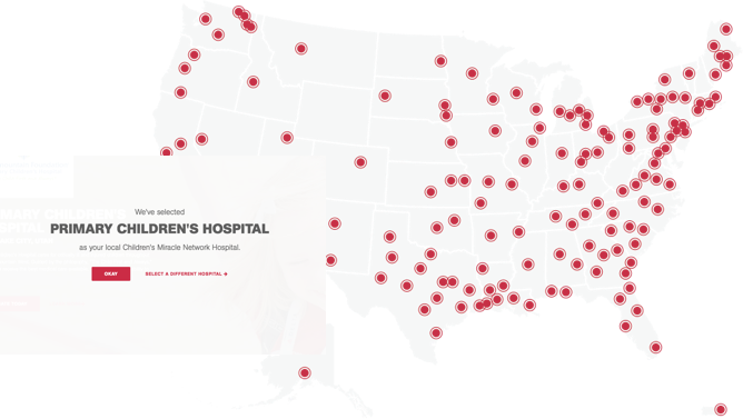 Primary Children's Hospital Map locations