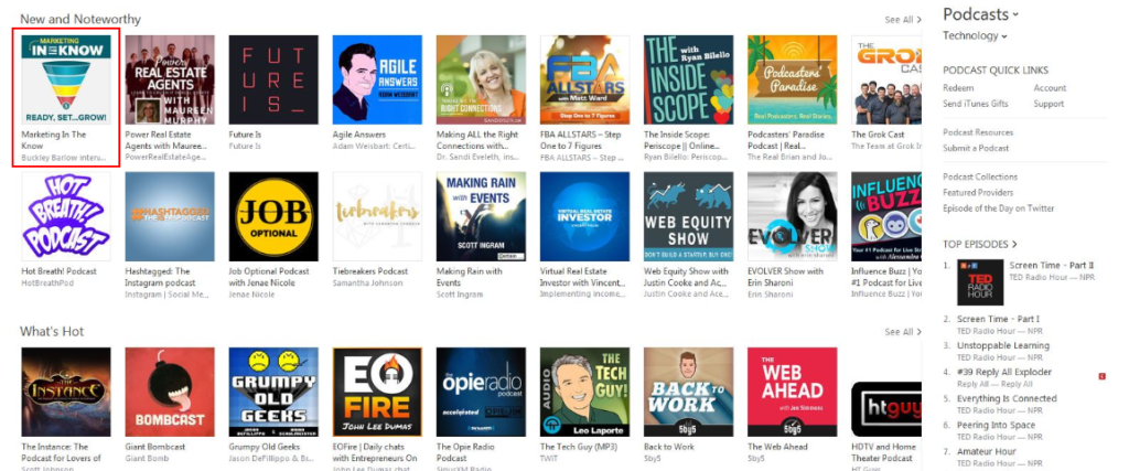 in the know podcast new and noteworthy