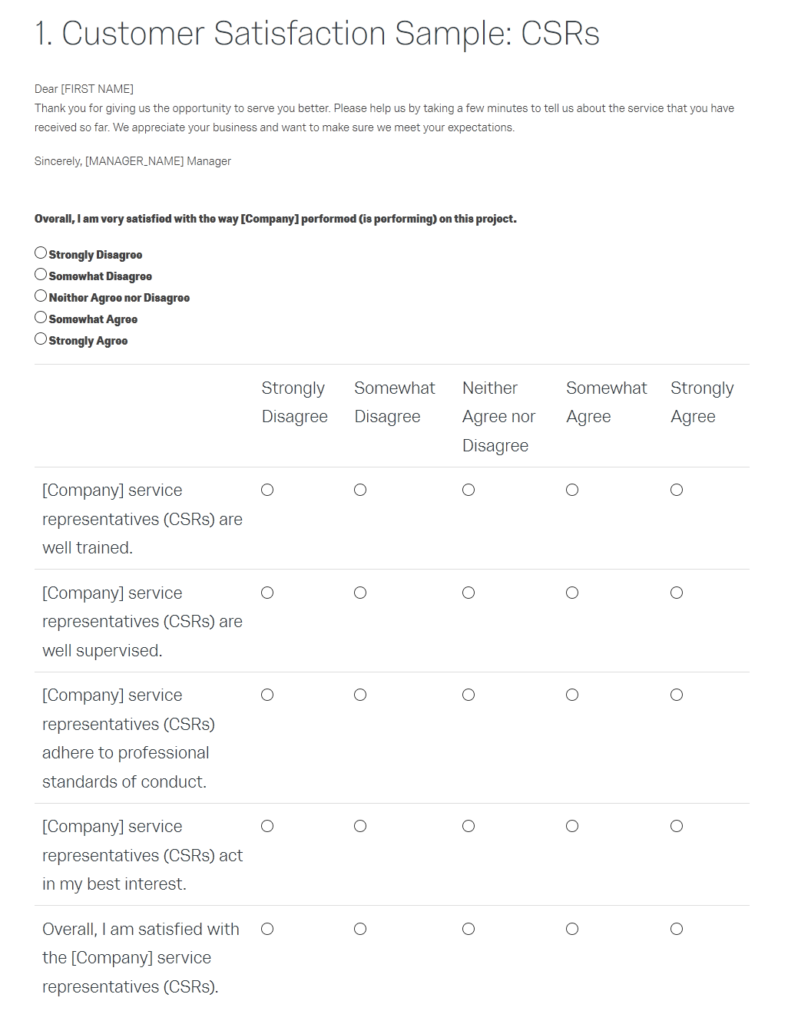qualtrics survey sample