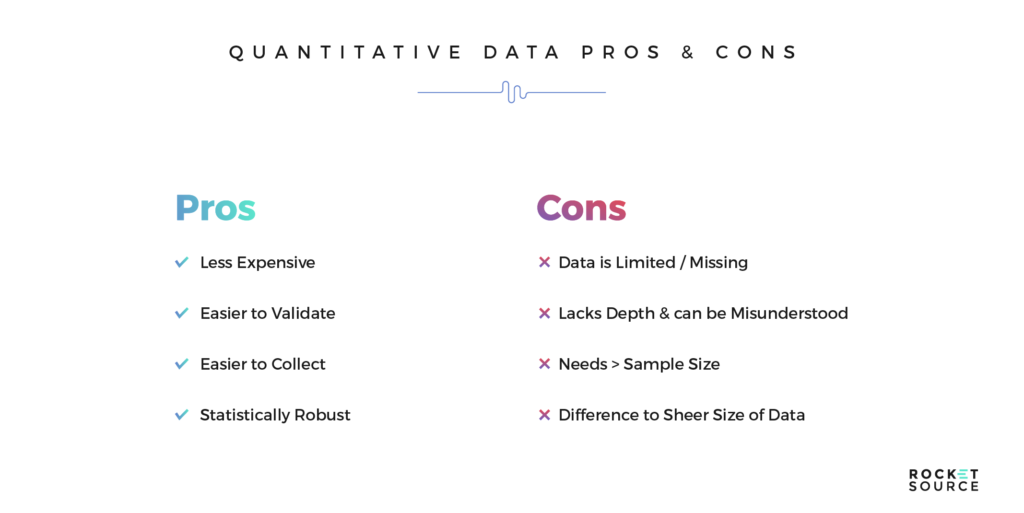 quantitative data pros cons